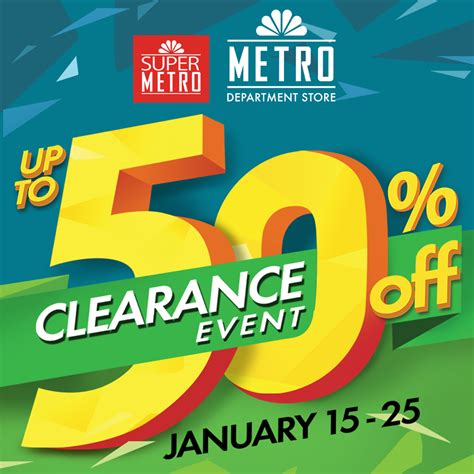 super selected january 2015 metro department store super metro clearance sale