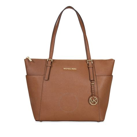 Michael Kors Handbag 4 michael kors jet set top zip saffiano leather tote in