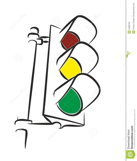 Traffic Light Drawing by Traffic Light Stock Vector Image Of Term Signal Road