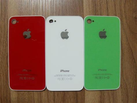 colored iphone glass colored back cover for iphone 4g 4g apple china