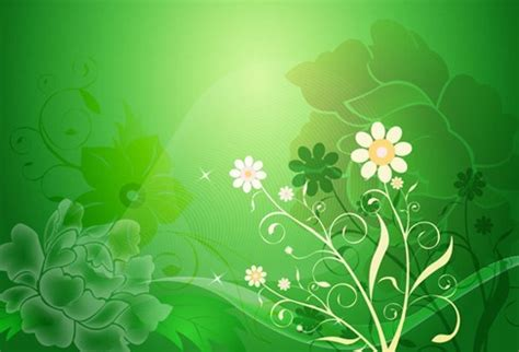 green wallpaper design ideas vector floral design on green background free vector