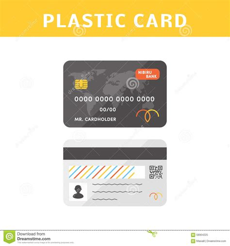 Credit Card Back Side Template Vector Credit Cards Stock Illustration Image 58904225