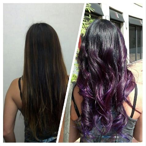 purple hair for asians purple ombre ombre purple hair asian hair yelp