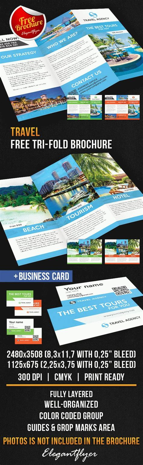Travel Tri Fold Brochure Free Psd Template By Elegantflyer Tri Fold Brochure Template Psd Free
