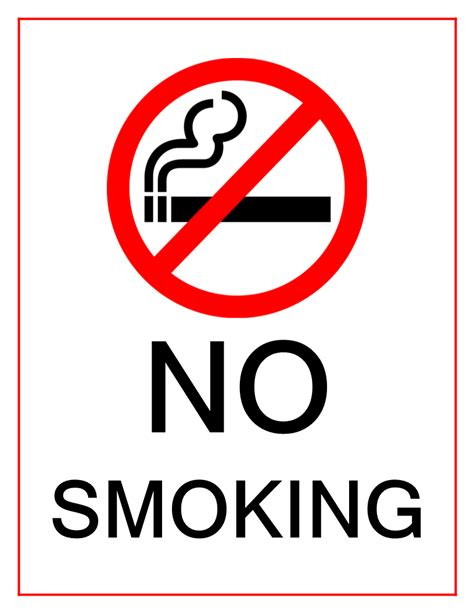 no smoking sign to download free free famous printable no smoking sign templates at