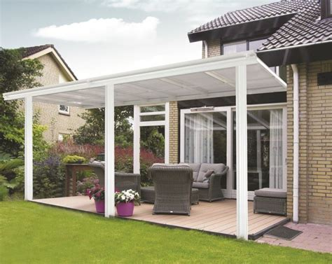 tettoia giardino tettoia per veranda da giardino in bianco 4 34m x 3m