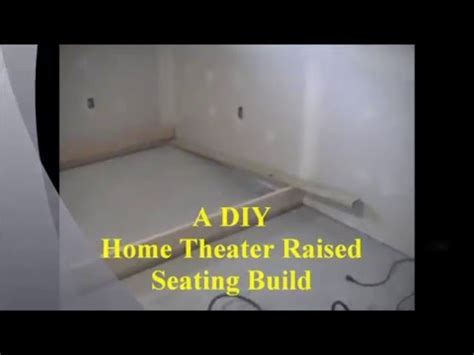 A DIY Home Theater Raised Seating Build   YouTube