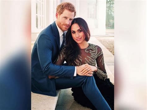 prince harry and meghan prince harry and meghan markle pose in candid engagement