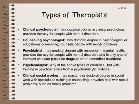 different types of therapy introduction to abnormal psychology