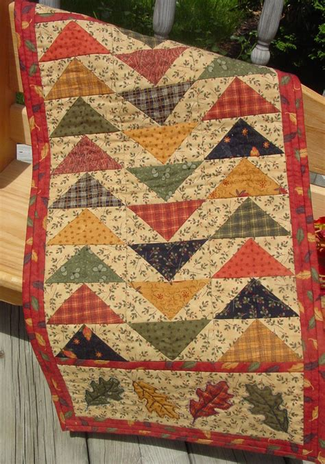 Patchwork Wall Hanging Patterns - autumn pattern for quilted table runner wall hanging