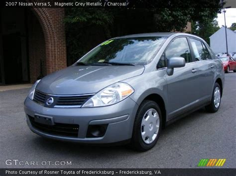 nissan versa interior 2007 magnetic grey metallic 2007 nissan versa s charcoal