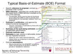 3 pm3 c 2  estimating costs