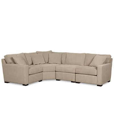 radley sectional reviews radley fabric 4 piece sectional sofa created for macy s