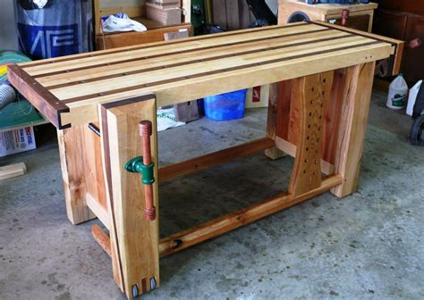 my bench my ultimate workbench about half done by rs woodworks