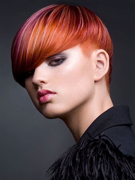 trendy short hairstyles  bangs  haircuts