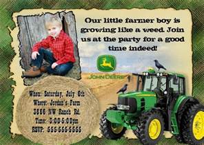 john deere farm birthday invitations templates john