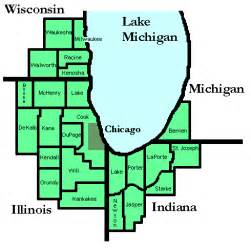 Chicago County Map by Vplants About Us Chicago Region County Map