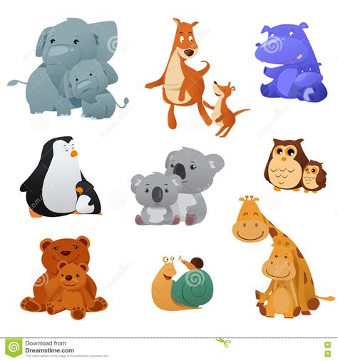 Clipart Of Animals And Their Young Clipartxtras Free Coloring Pages Of Animals And Their Babies