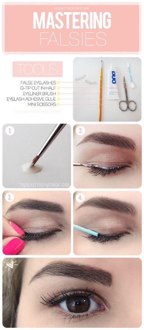 ways  apply false eyelashes properly pretty designs