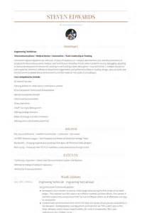 Engineering Technician Resume Sample engineering technician resume samples visualcv resume samples