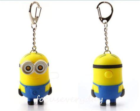 Mainan Pedang Minion Light And Sound new minion light and sound key ring despicable me minions led keychain ebay