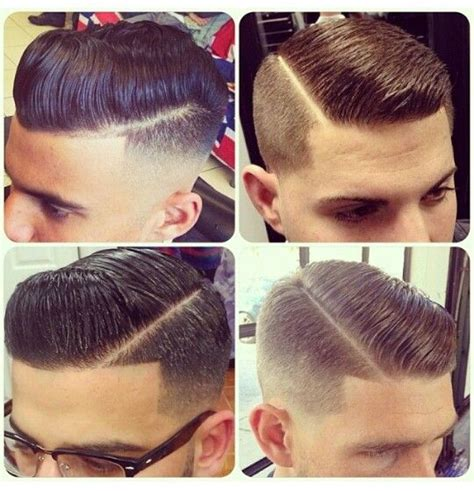shaved in parting style shaved sides and barbers on pinterest