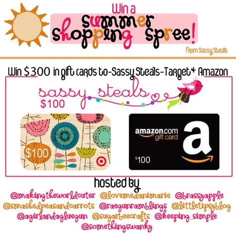 Shopping Spree Giveaway - summer shopping spree giveaway 300 to target amazon