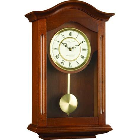 pendulum wall clock clock company walnut finish westminster chime pendulum wall clock ebay