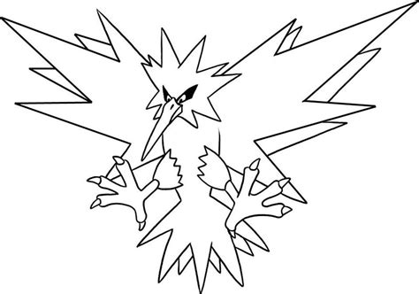 pokemon zapdos coloring pages legendary pokemon coloring pages zapdos coloringstar