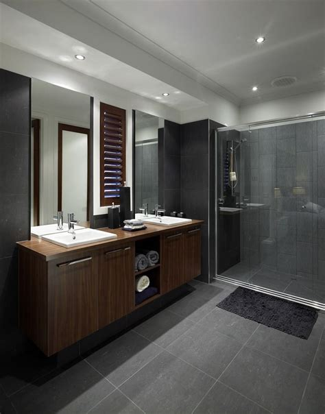 Modern Bathroom Grey Tile Beaumont Tiles Alto Smoke 60x60 Loving This Tile And Look Sick Bathroom