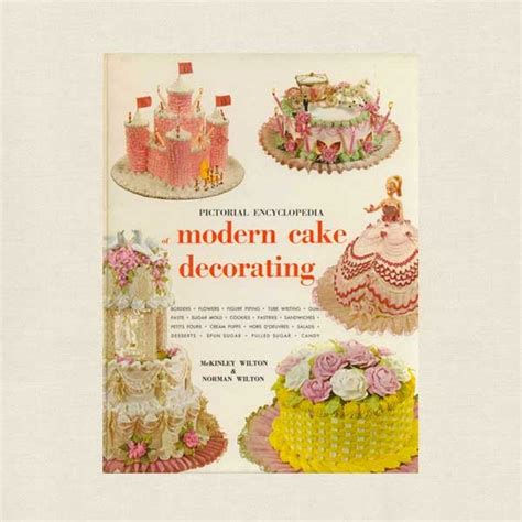 Cake Decorating Books Free by Wilton Modern Cake Decorating Book Vintage