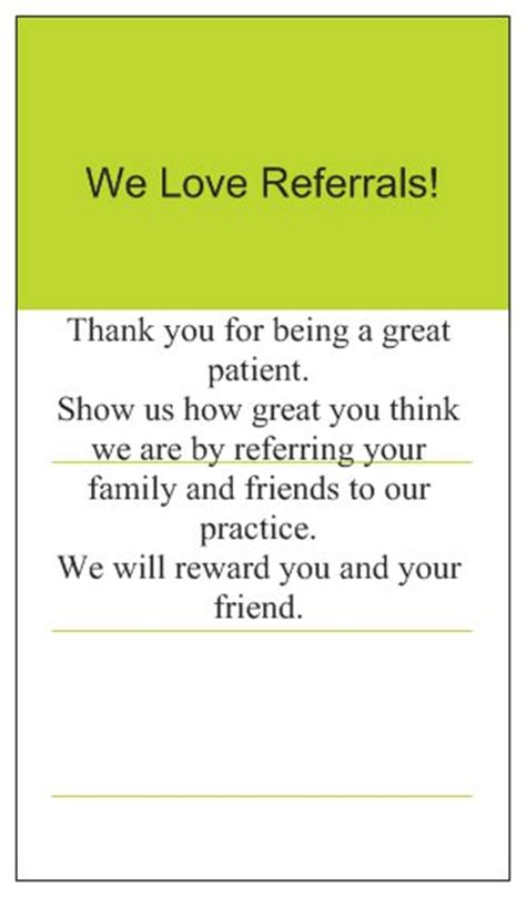 Dental Referral Thank You Cards