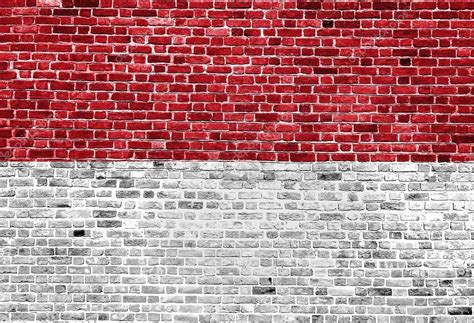 Bendera Flag Merah Putih 100x150 Cm 1 flag of indonesia painted on brick wall background texture stock photo 87969186