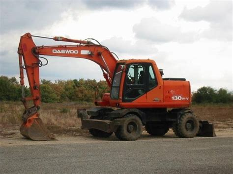daewoo wheel excavator s130w for sale used second