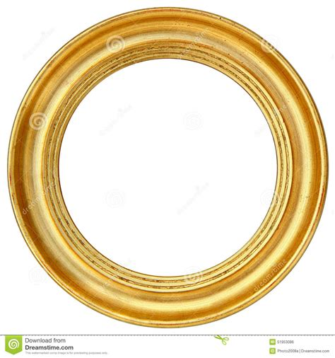 Home Design 3d Gold 2 8 moldura para retrato redonda do ouro foto de stock