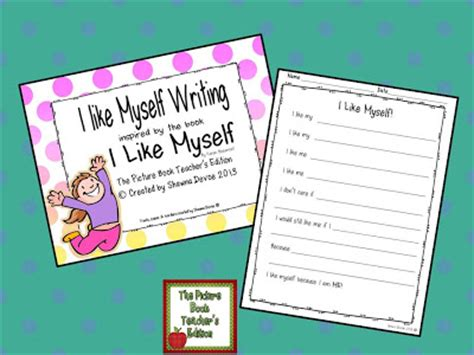 i like myself the picture book teacher s edition i like myself by karen beaumont teaching ideas