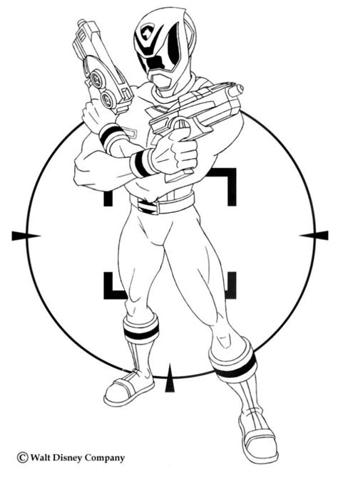 power ranger with laser guns coloring pages hellokids com