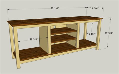 easy  build tv stand buildsomethingcom