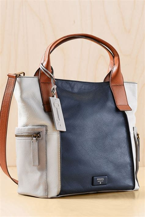 Tas Fossil Jori Large Satchel Blue Brown Multi looking for a weekend satchel that holds it all the emerson satchel s pretty colorblock makes