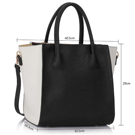 Fashion Tote Bag Black ls0061a white black fashion tote bag