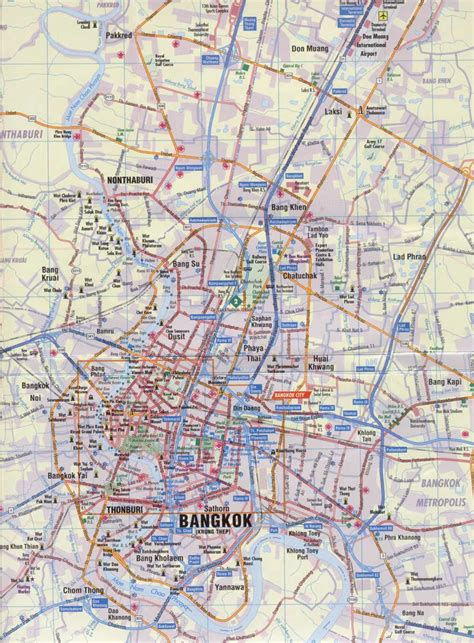 bangkok map maps of bangkok