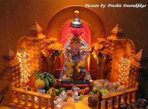 decoration for ganesh festival at home ganesh chaturthi decoration images for home www imgkid