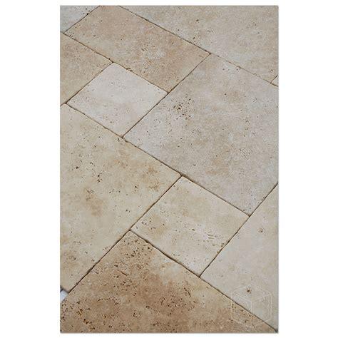 white travertine french pattern paver bayyurt marble
