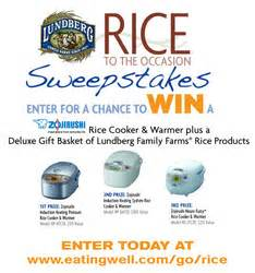 Eating Well Magazine Sweepstakes - lundberg family farms 174 announces rice to the occasion sweepstakes with