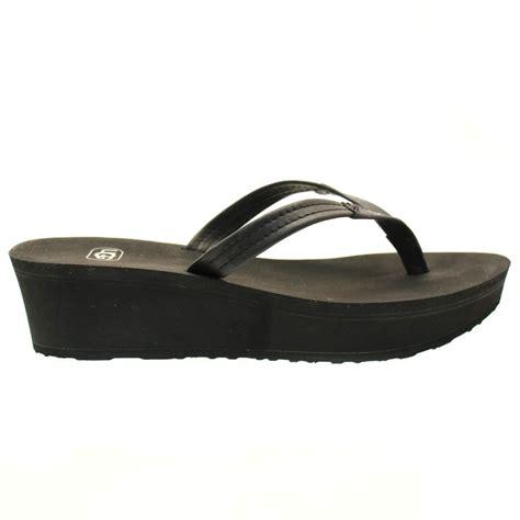 Wedge Flip Flops buy ugg 174 womens black ruby wedge flip flops at hurleys