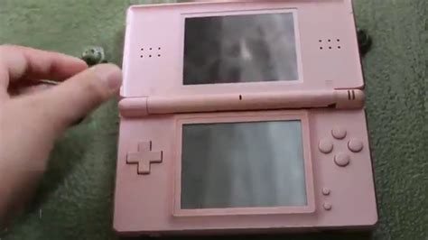 nintendo ds lite pink listing on ebay