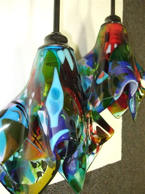 Glass Tiles For Kitchen Backsplashes Pictures by Colorful Fused Glass Pendant Light Designer Glass