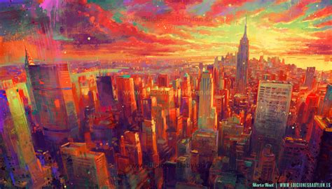 painting new 2014 new york impressionism by martanael on deviantart
