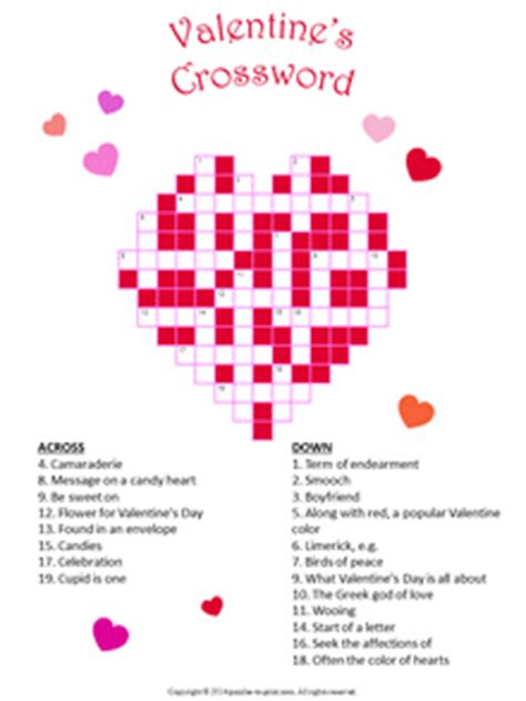 valentines gifts for crossword puzzle book as a valentines day gift for valentines day gifts for or books puzzle bundle 3 puzzles to print