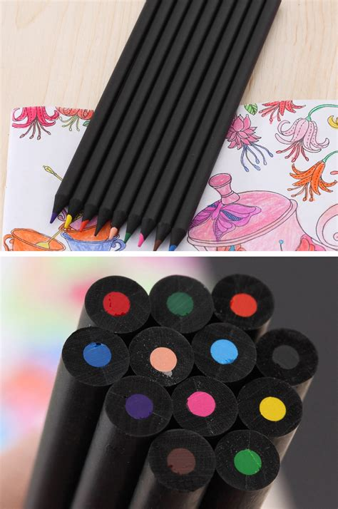 Pensil Warna 12 Color pensil warna black wood drawing sketches 12 warna box black jakartanotebook